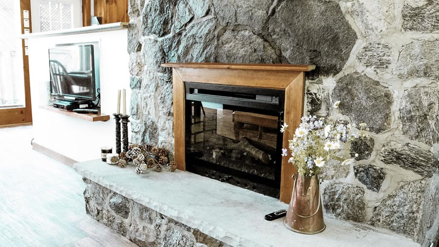 fireplace and tv