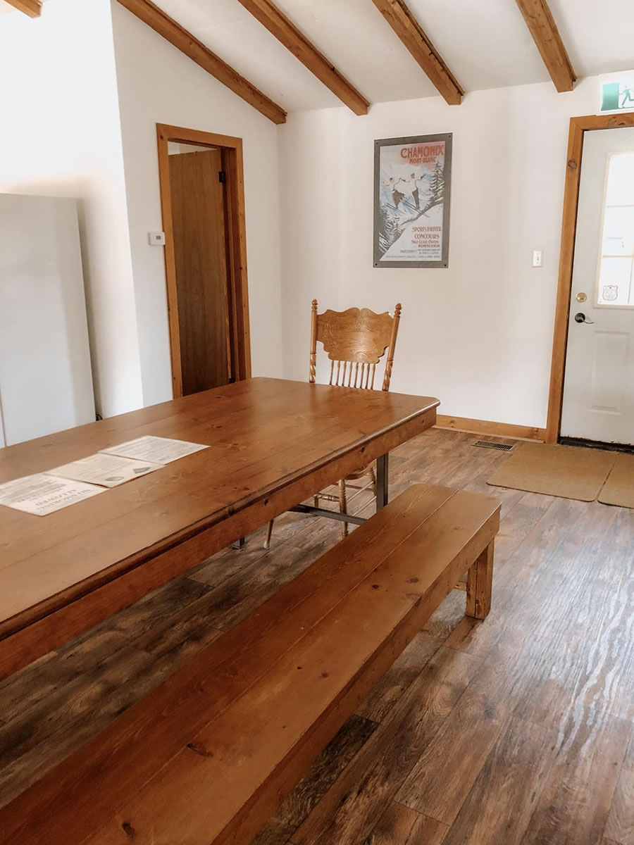 kitchen table and front door