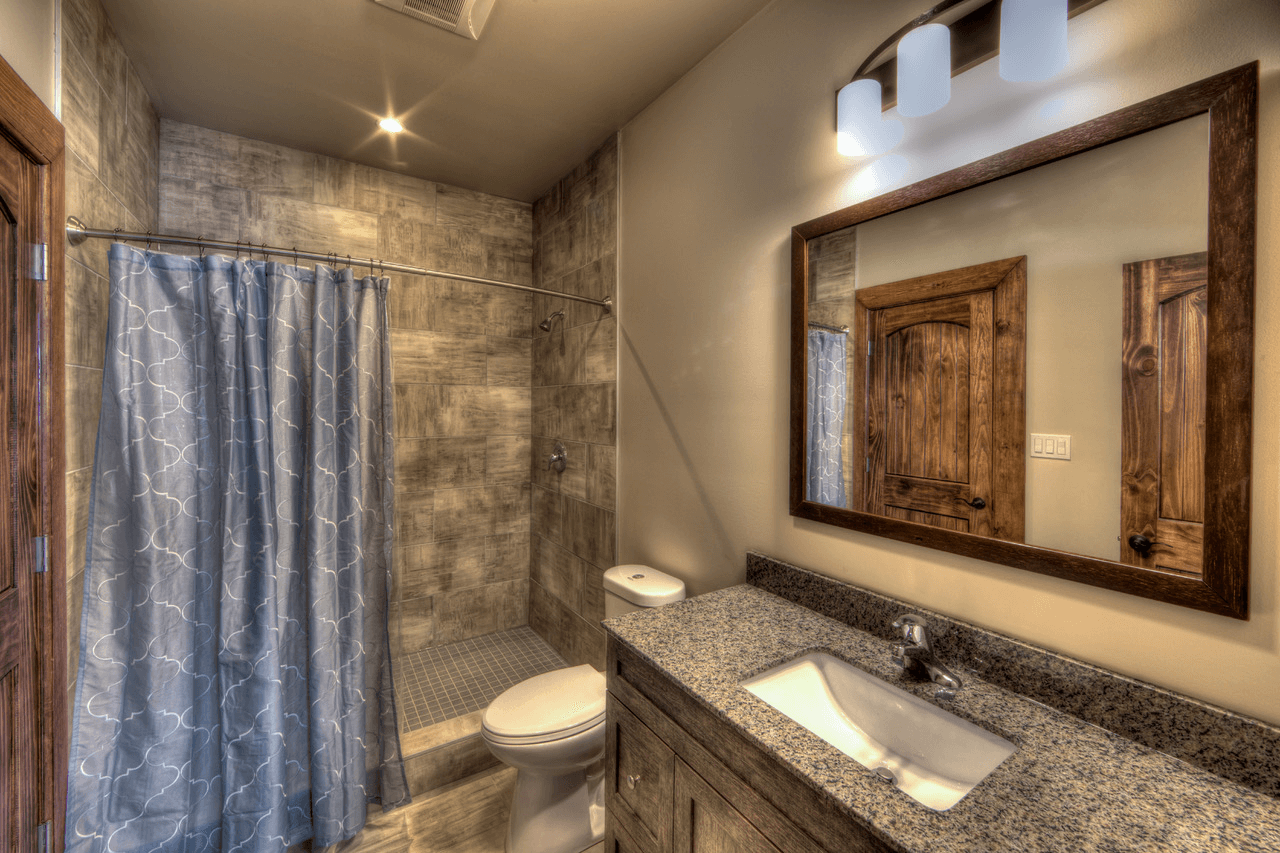 new chalet bathroom